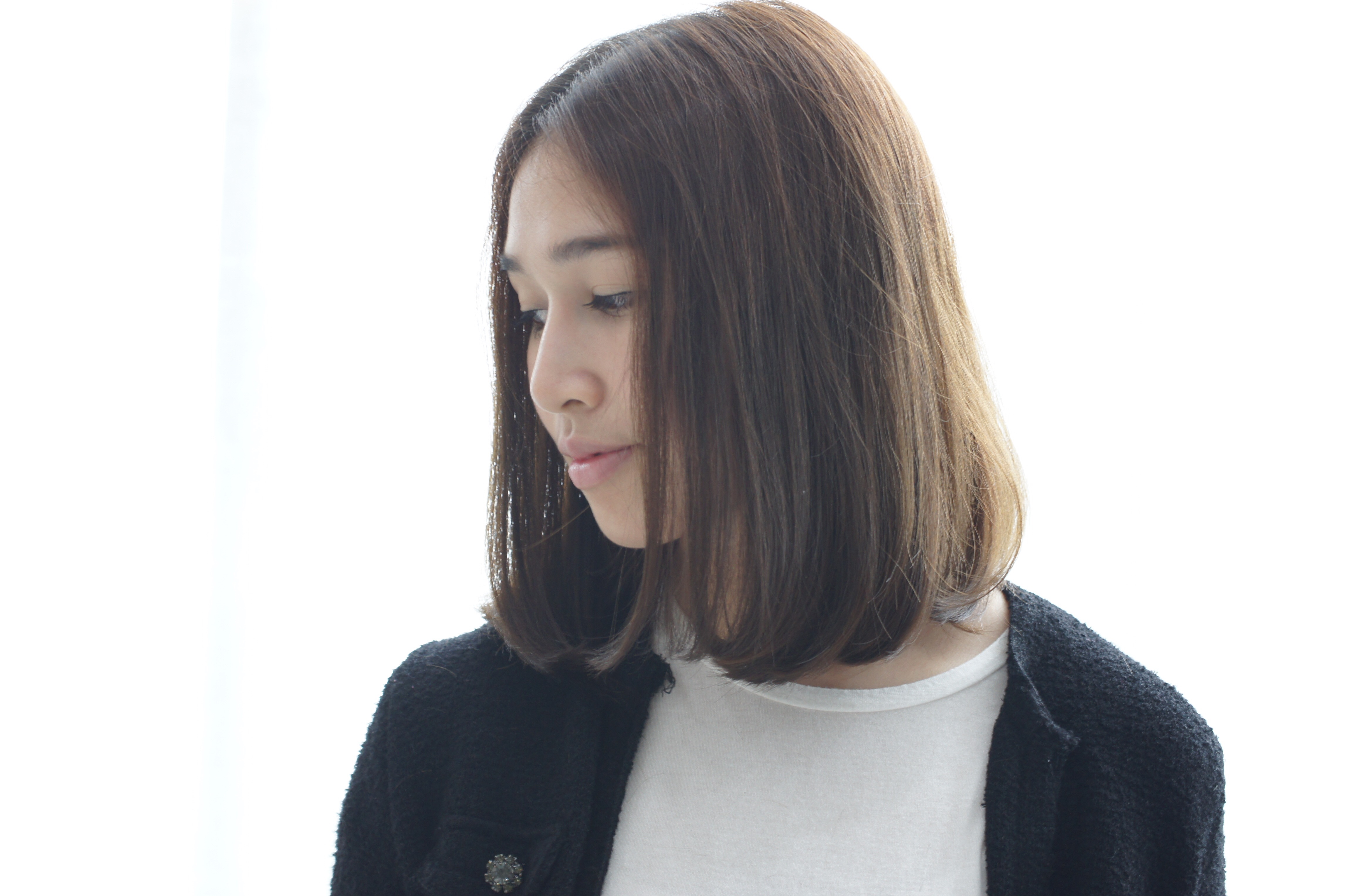 Long Bob style of Japanese salon \u2013 AKI ENDO